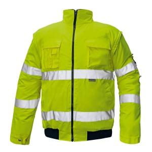 Сигнальна куртка утеплена 2 в 1